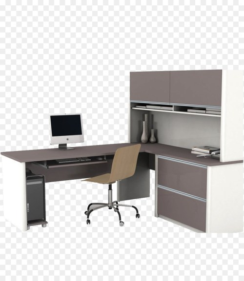 Medium Of Office Desk With Hutch