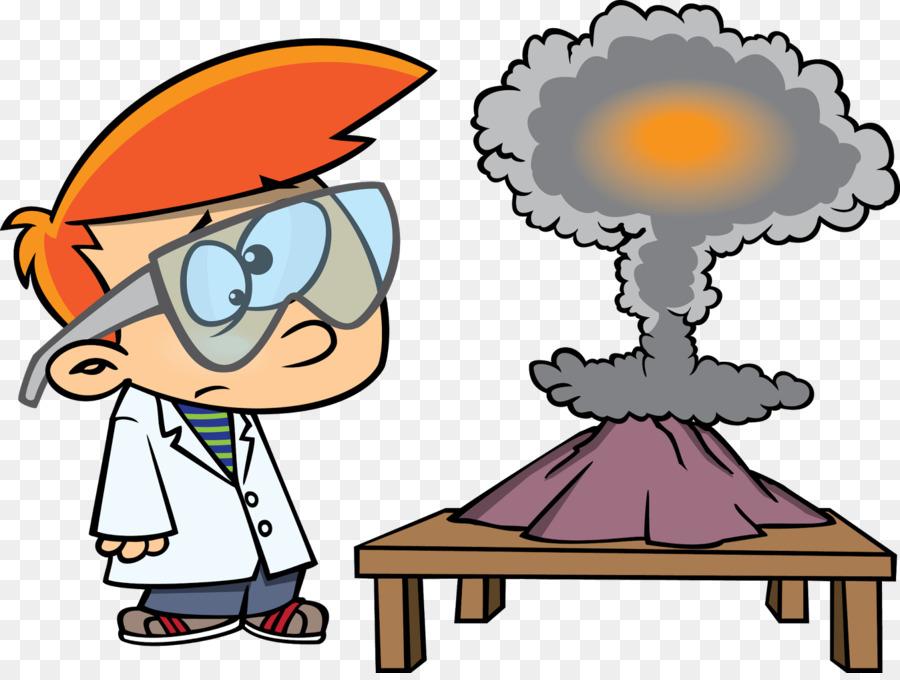 Experiment Science-Projekt-Labor Cartoon-Wissenschaftler