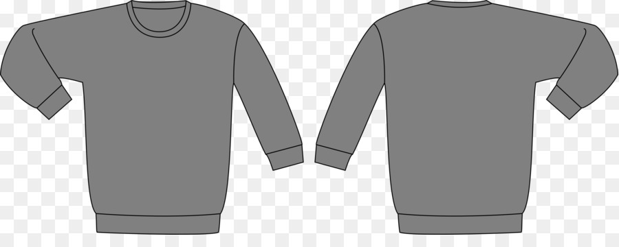 Hoodie T-shirt Sweater Template Bluza - Template Vector png