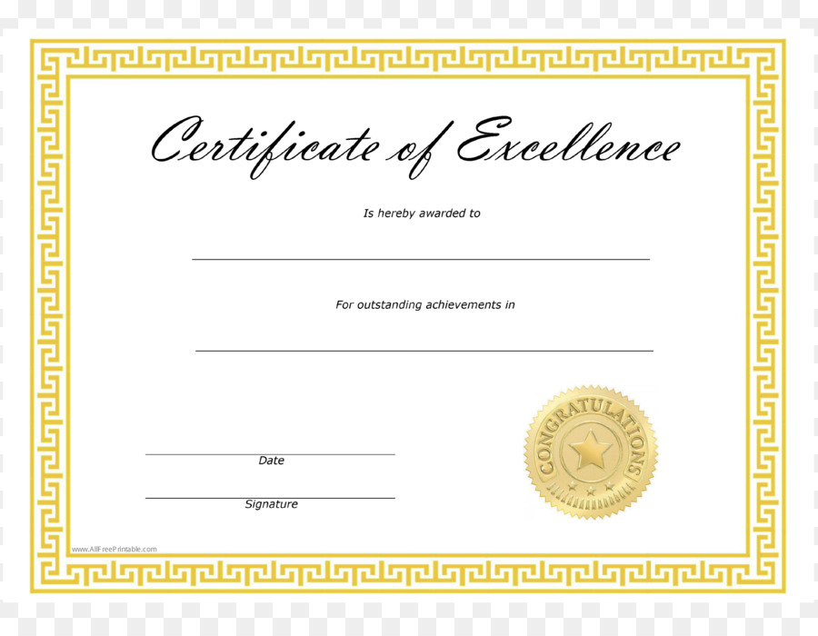 Template Microsoft Word Excellence Academic certificate - template