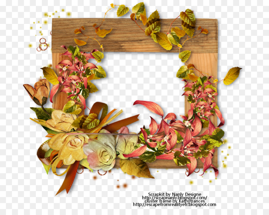 Picture Frames Autumn Floral design Flower - digital art word png - word design frames