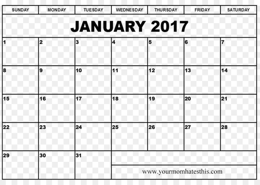 Online calendar Template 0 January - Ms Word Resume png download