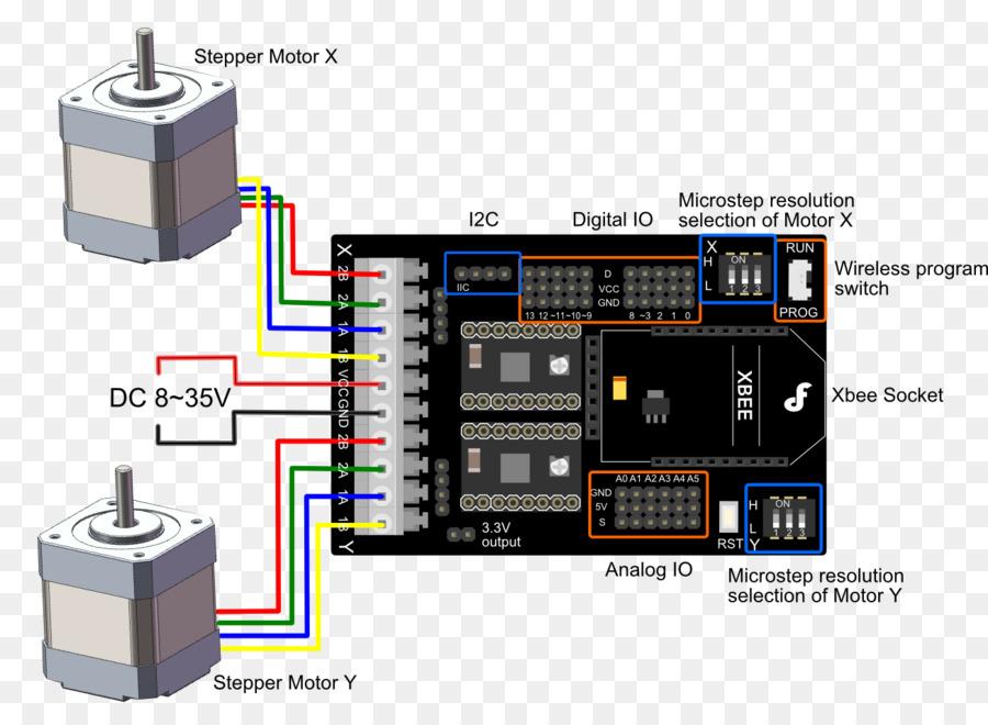 Stepper motor Arduino Motor controller Electric motor Wiring diagram