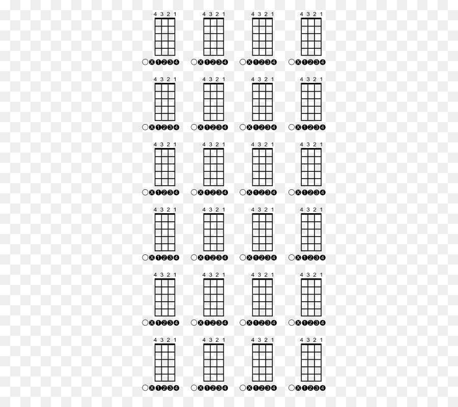 Ukulele Guitar chord Bass guitar Chord chart - chord vector png