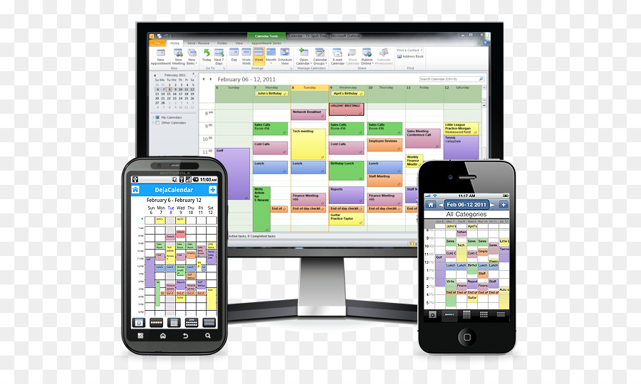 iPhone Google Sync Microsoft Outlook Outlook Android - calender
