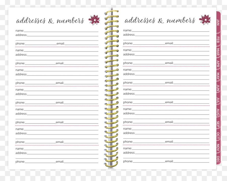 Personal organizer Paper Diary Notebook bloom daily planners