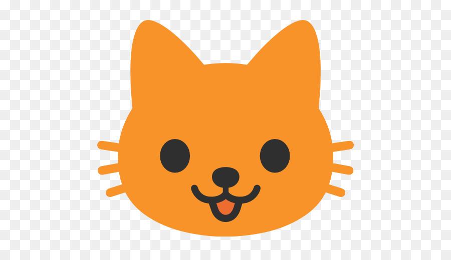 Black cat Kitten Emoji Sticker - butterfly cute cat head png