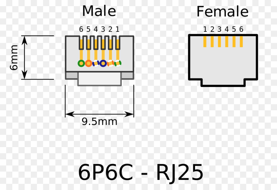 RJ-11 Pinout Wiring diagram Registered jack Category 5 cable - work