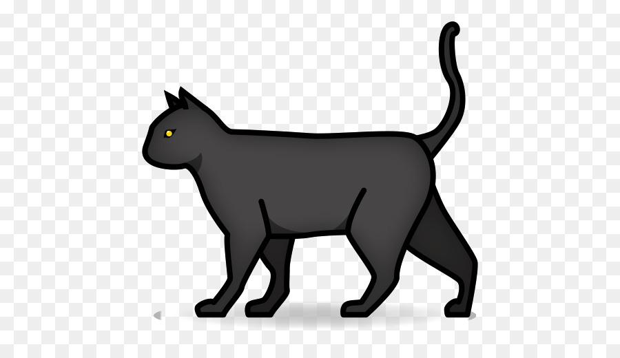 Whiskers Black cat Kitten Emoji - maple leaf decoration png download