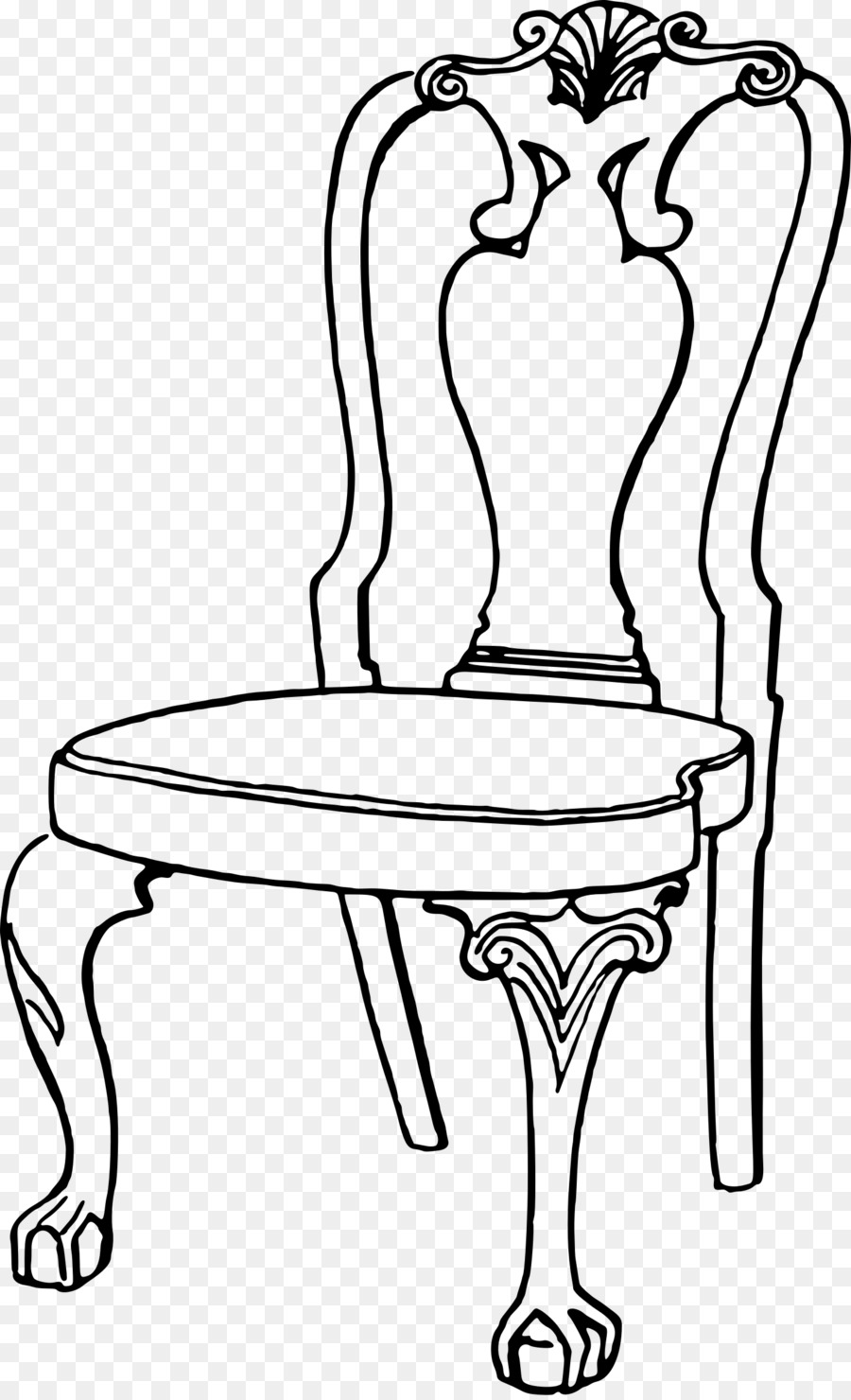 Schranke Clipart Coloring Book Chair Line Art Table Cartoon Chair Png Download