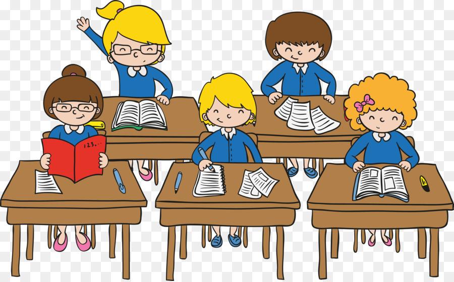 Classroom Student Cartoon - classroom education png download - 6742