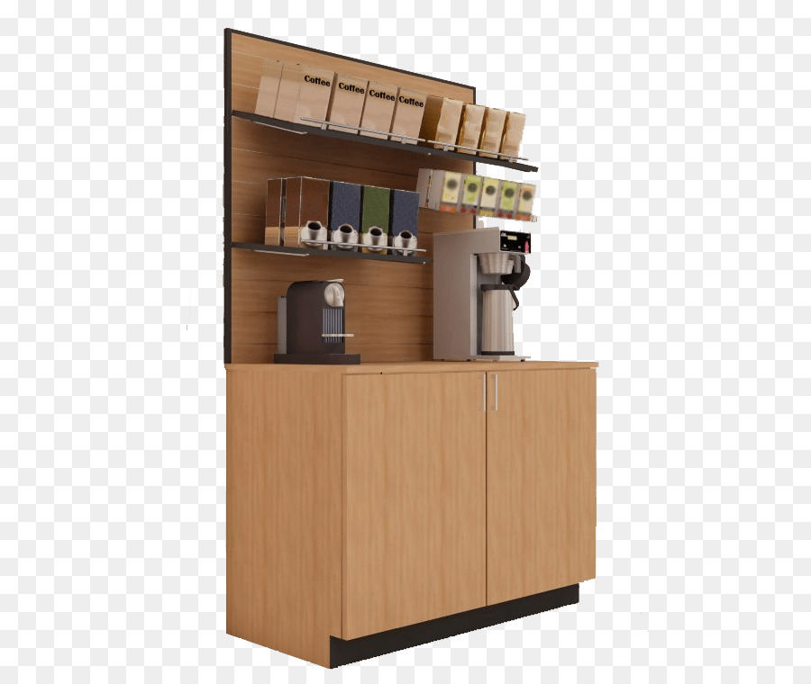 Coffee Cafe Cabinetry Shelf Office - merchandise display stand png