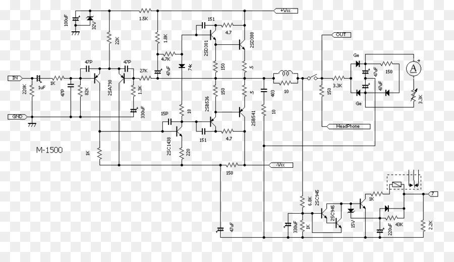 Audio power amplifier Schematic Circuit diagram Electrical network