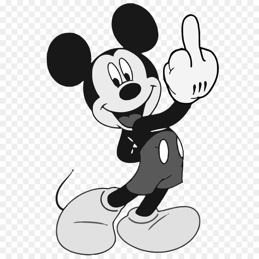 Disney Mickey Mickey Mouse Minnie Mouse Donald Duck The Finger The Walt Disney