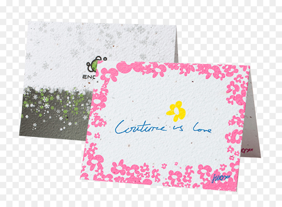 Seed paper Printing Greeting  Note Cards - golden greeting card png