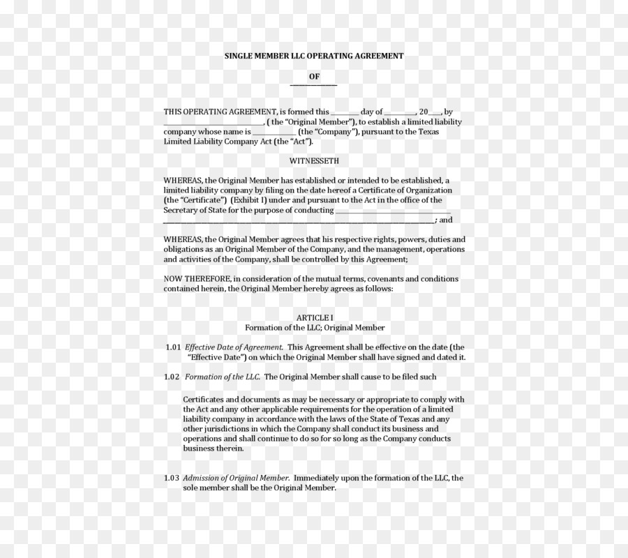 Operating agreement Uniform Limited Liability Company Act New Jersey