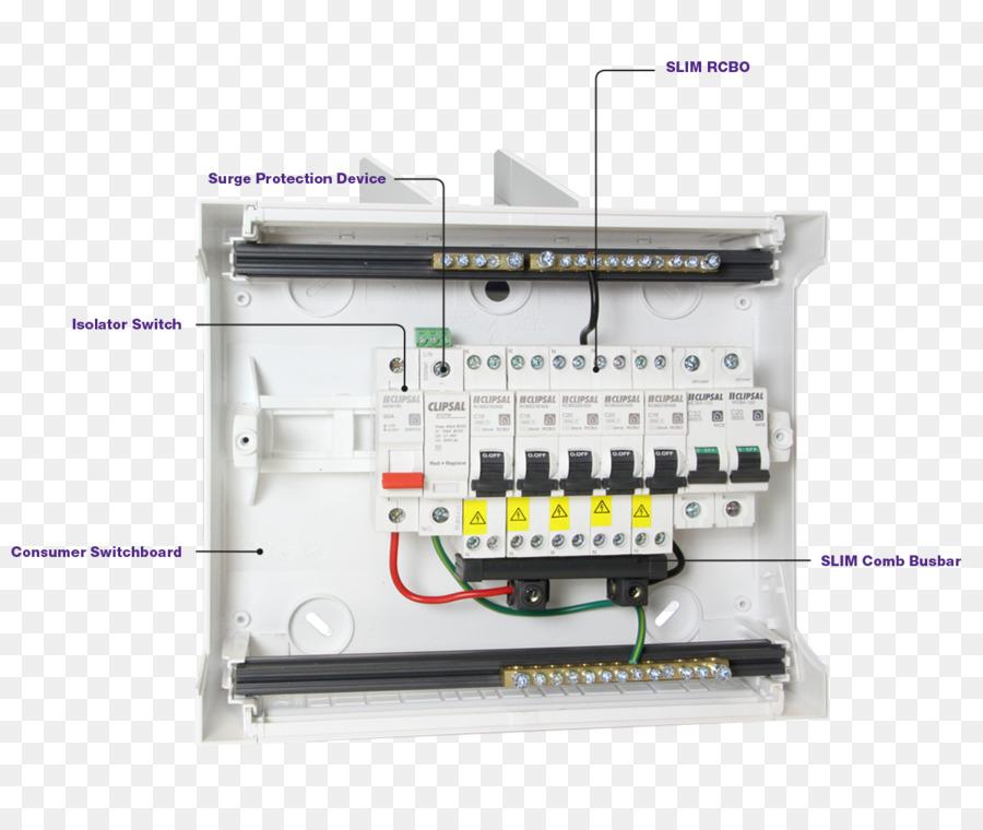 Electric switchboard Circuit breaker Wiring diagram Residual-current