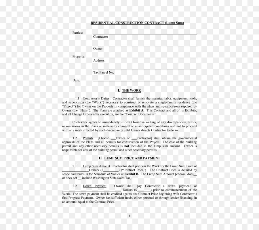 Construction contract Form Architectural engineering Template