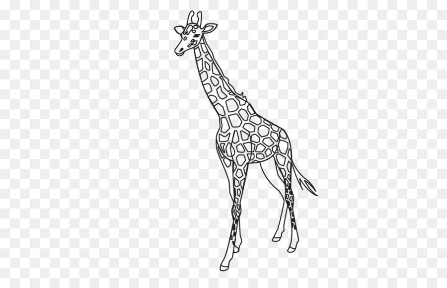 Giraffe Outline Template Lion Pattern - Giraffe pattern png download