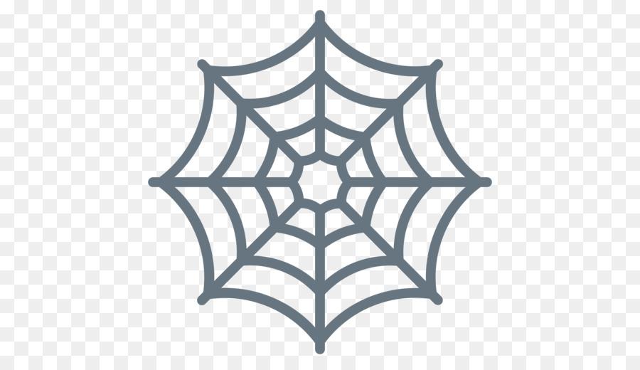 Spider web Stencil Spider-Man Template - spider png download - 512