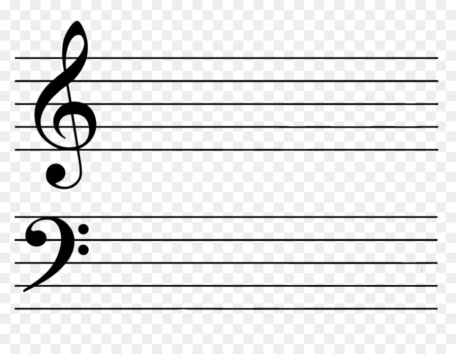 Clef Ledger line Treble Musical note Staff - Bass Clef png download