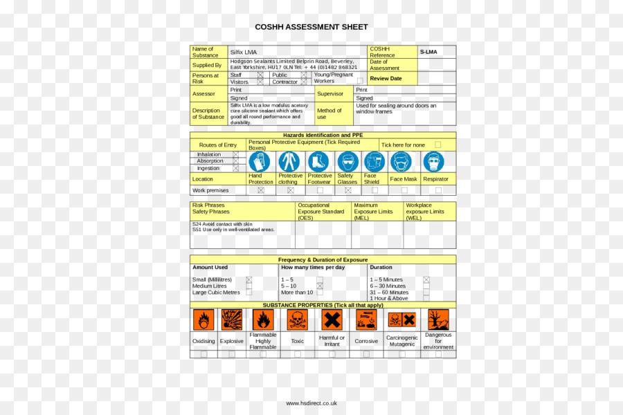 COSHH Risk assessment Template Hazard - Builder\u0027s Risk Insurance png
