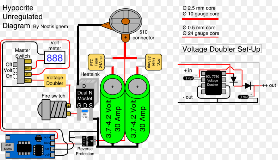 MOSFET Wiring diagram Field-effect transistor Voltmeter - Led