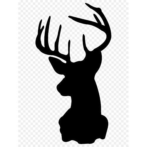 Medium Crop Of Reindeer Head Silhouette