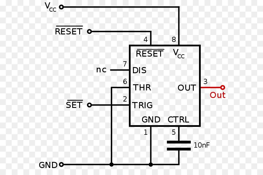 555 timer IC Monostable Electronics Flip-flop - electronic circuits