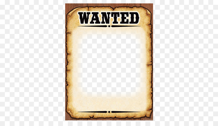 Wanted poster Template American frontier - poster templet png