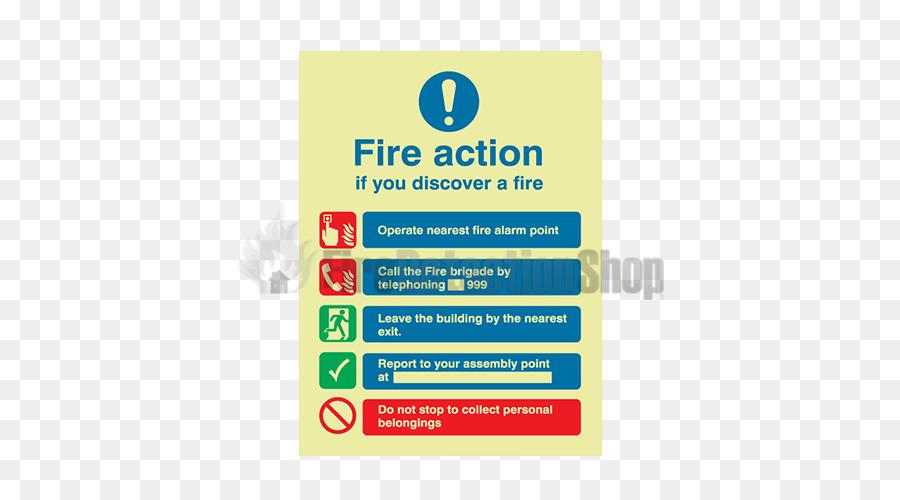 Safety Manual fire alarm activation Emergency evacuation Signage