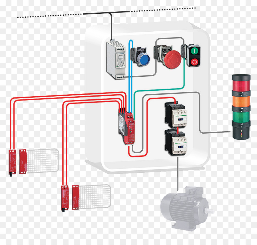 Contactor Schneider Electric Wiring diagram Safety Machinery
