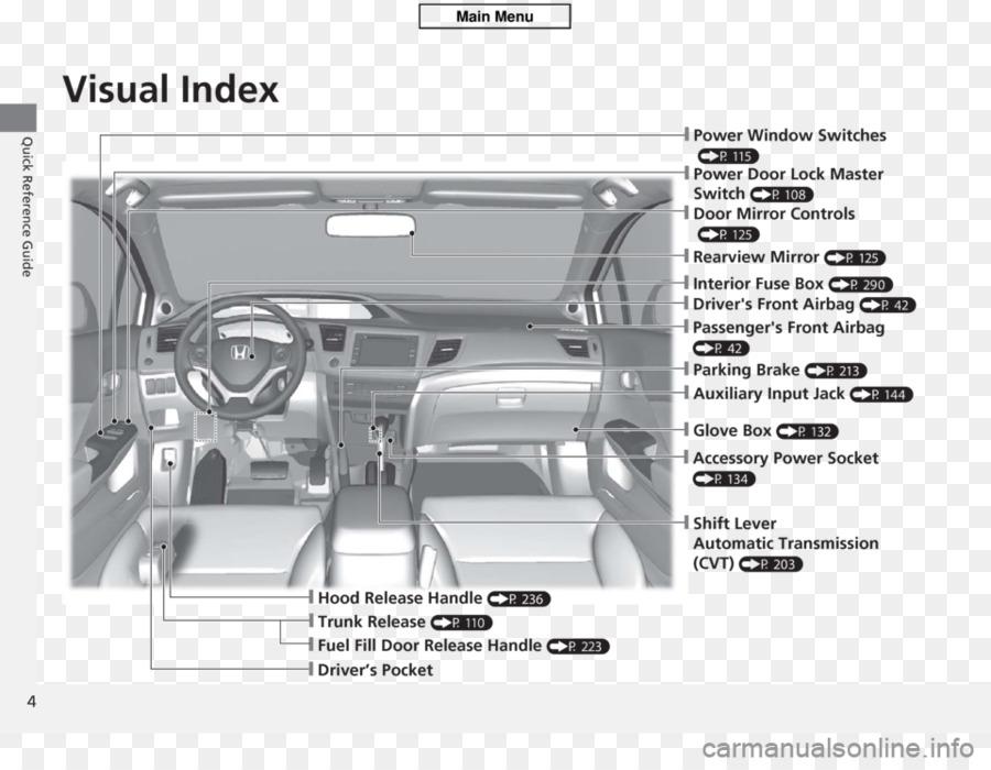 2012 Honda Civic Hybrid Car Wiring diagram Fuse - honda png download