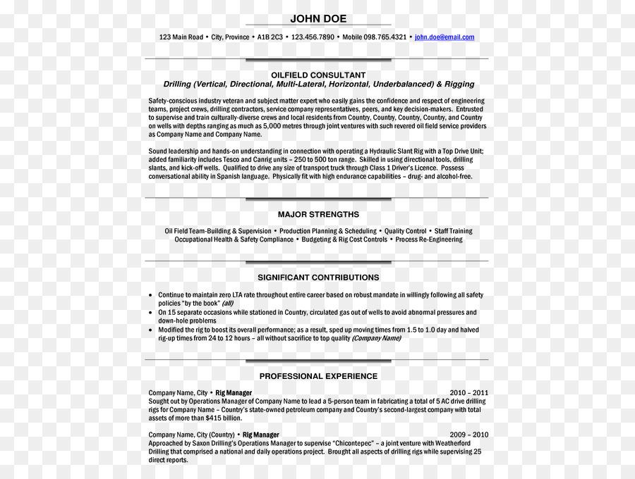 Résumé Template Project manager Cover letter Job description