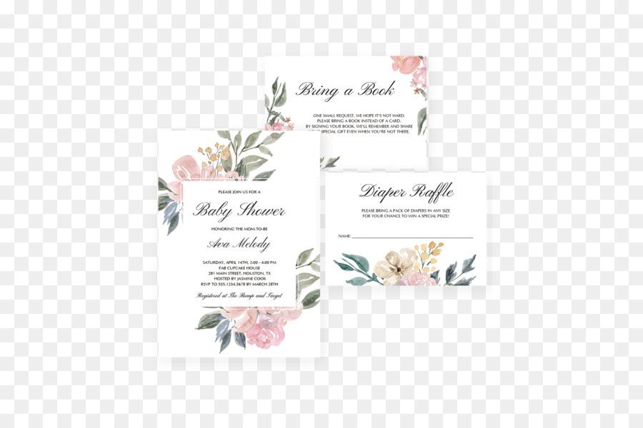 Floral design Wedding invitation Greeting  Note Cards Birthday