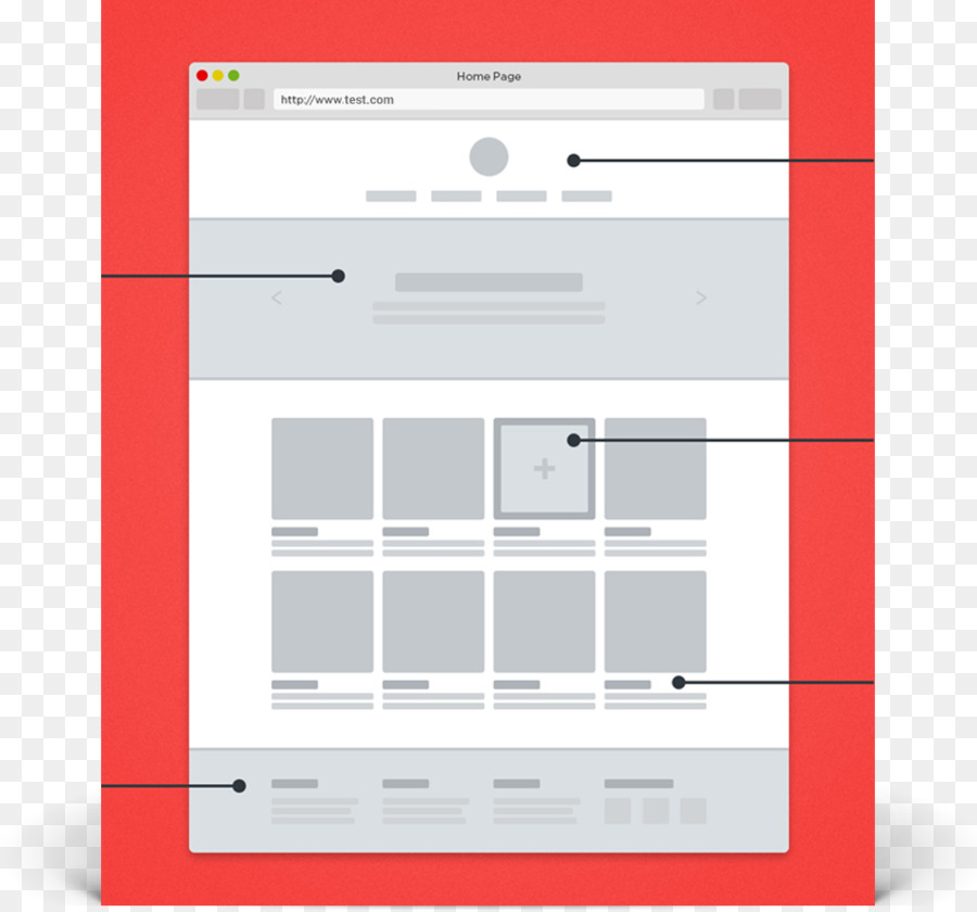 Responsive web design Website wireframe - design png download - 947