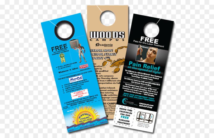 Door hanger Business Printing Advertising - door hanger png download