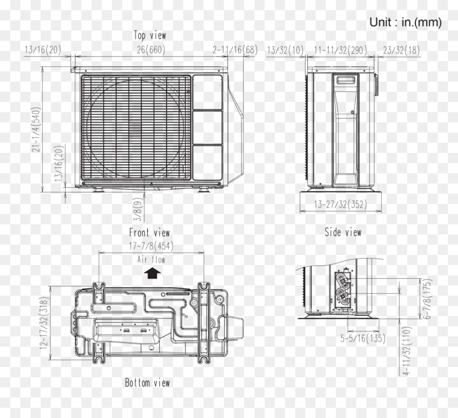 Wiring diagram HVAC Floor plan Air conditioning Room - others png
