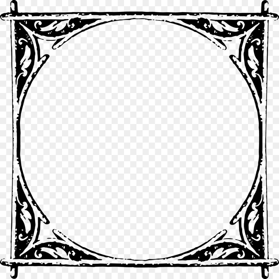 Rustic Picture Frames Png Picture Frames White Line Art Pattern Rustic Frame Png Download