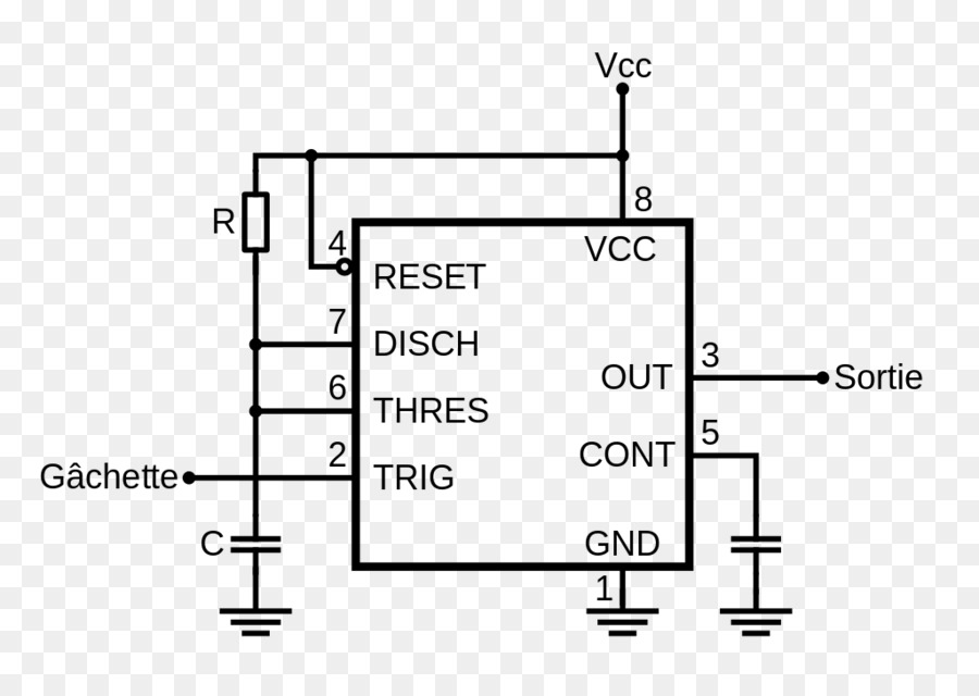 Diode 555 timer IC Diagram Integrated Circuits  Chips Electronics