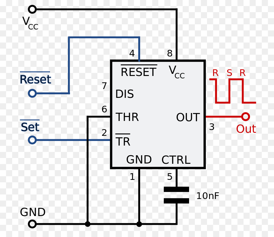 555 timer IC Integrated Circuits  Chips Multivibrator Monostable