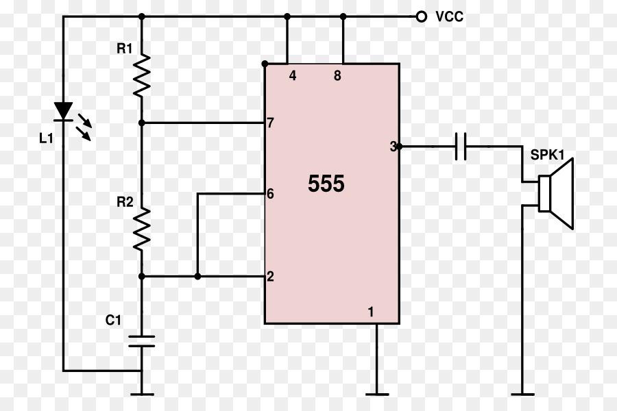 555 timer IC Mosquito Electronic circuit Electronics Circuit diagram