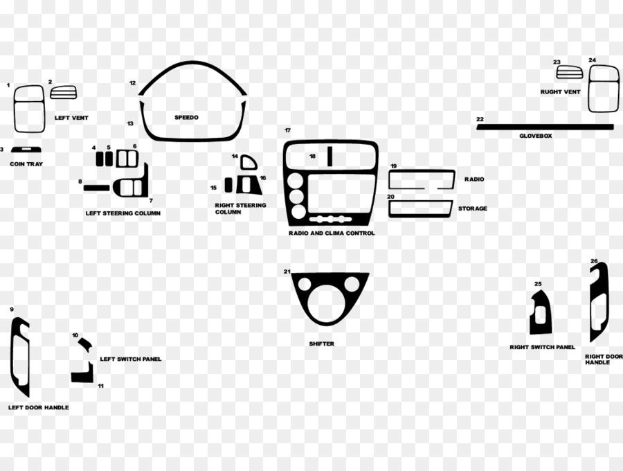 2003 Honda Civic Si Car Wiring diagram - honda png download - 1000