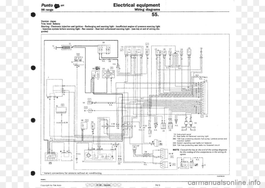 Fiat Punto Wiring diagram Fiat Panda - fiat png download - 960*679