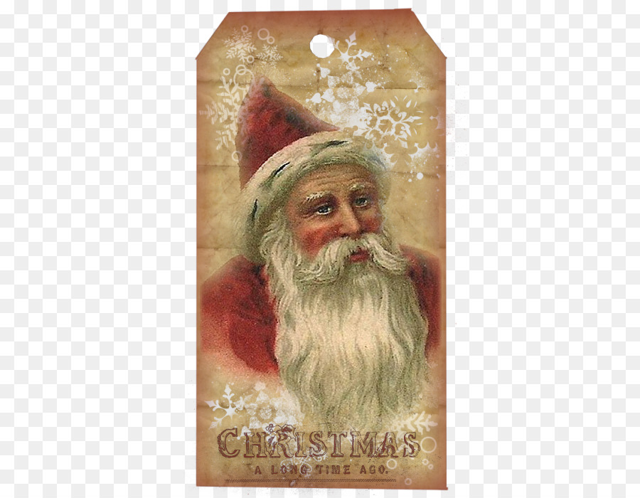 Santa Claus Christmas ornament Painting Christmas card Vintage