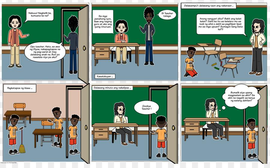 Comics Storyboard Teacher - goodbye png download - 4074*2473 - Free