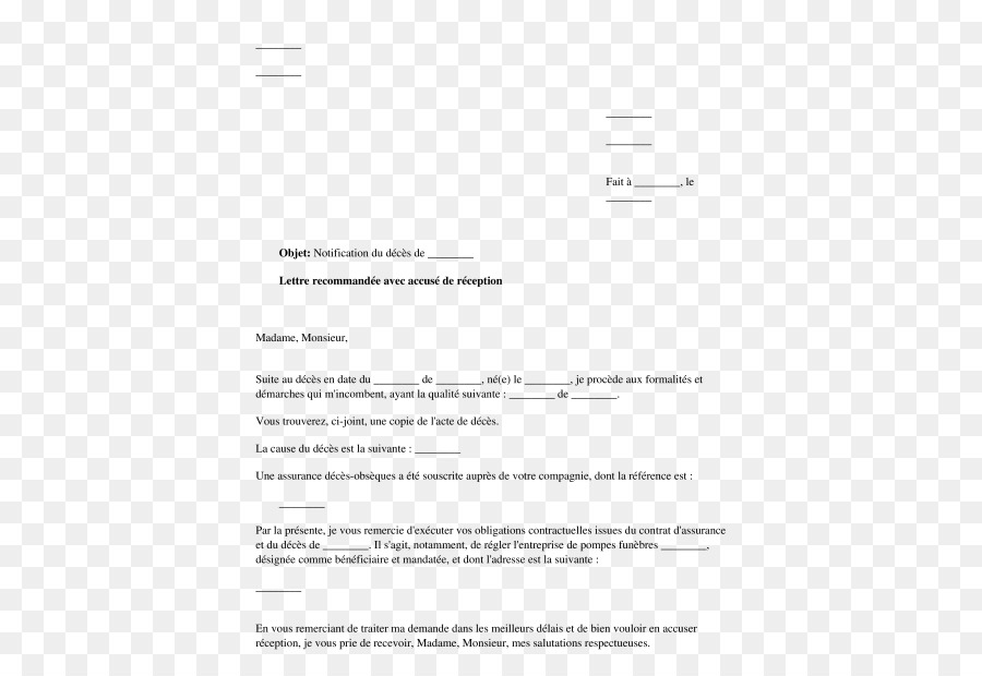 Letter Life insurance Document Death - notify png download - 532*606