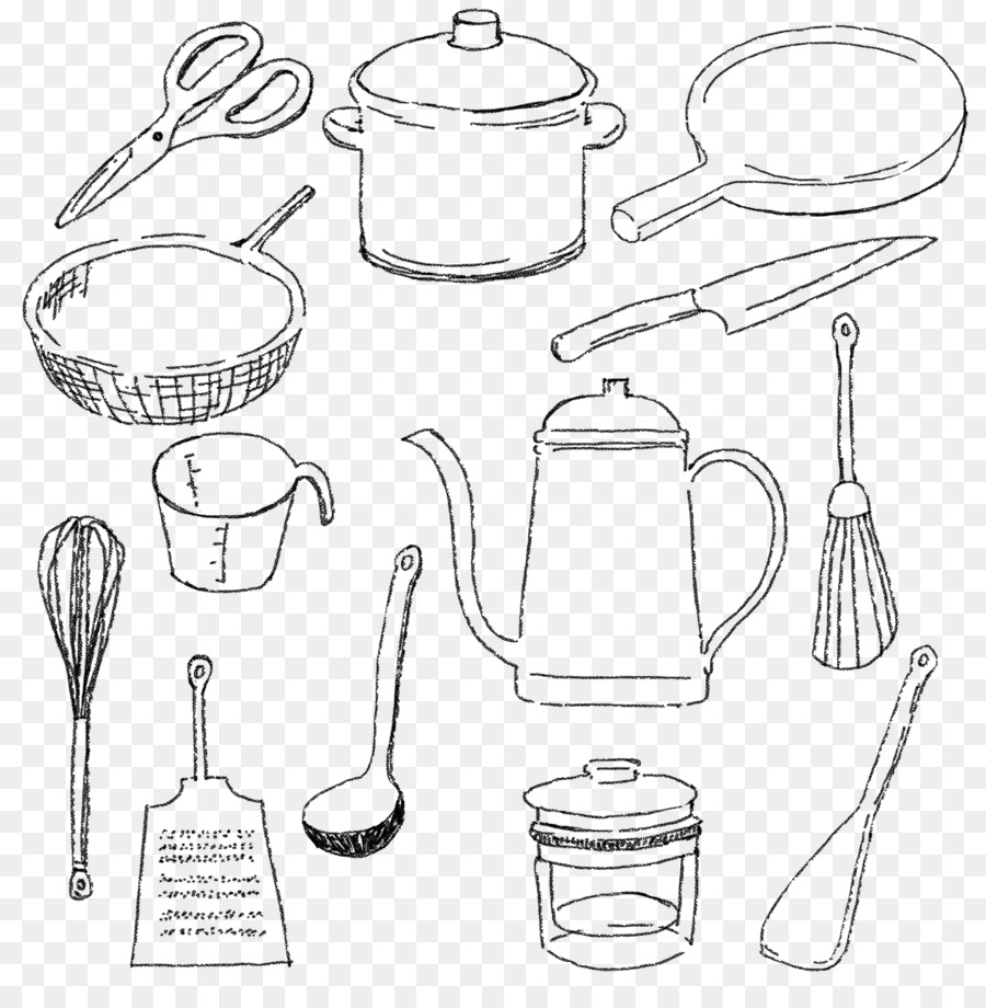Sketsa Alat Dapur Food Storage Containers Kitchen Sketch Black Dish Png Download