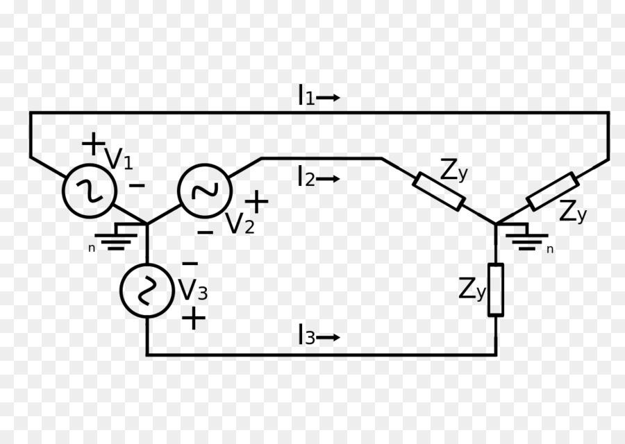 Three-phase electric power Delta-wye transformer Wiring diagram