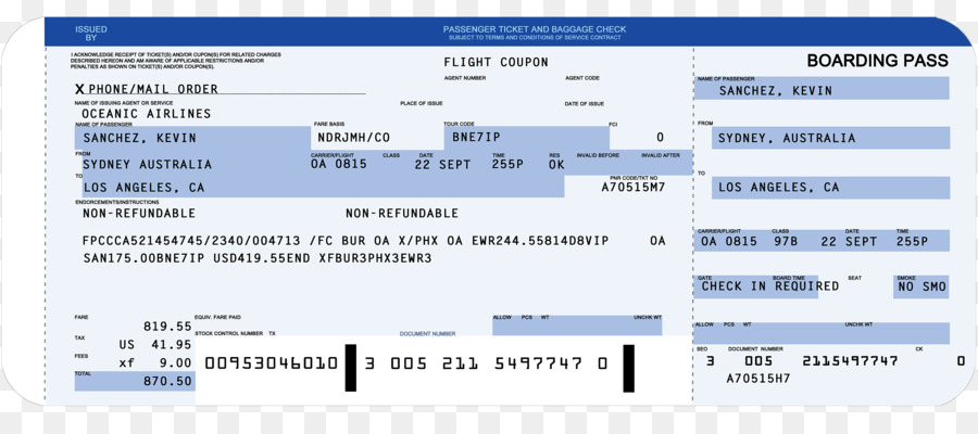 Flight Airplane Airline ticket Boarding pass Template - airplane png